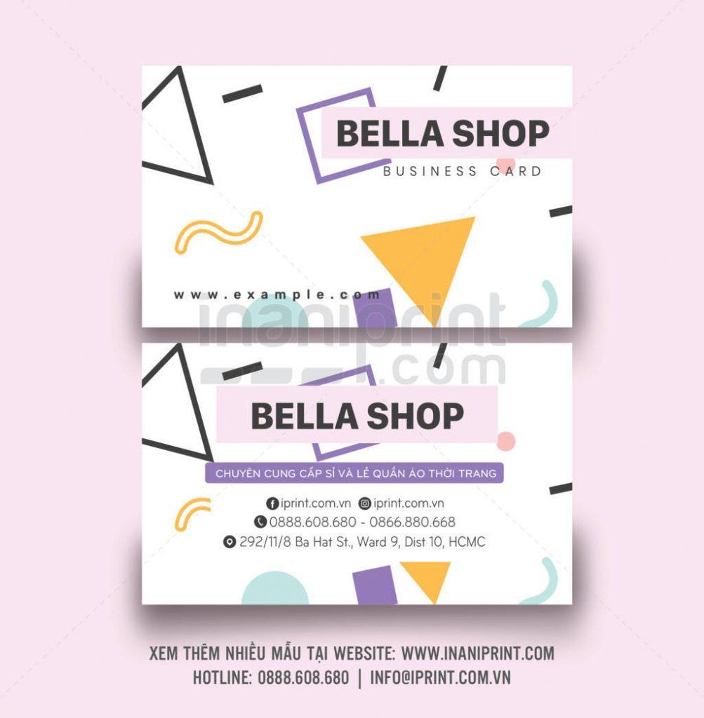 Mẫu name card shop thời trang – S002