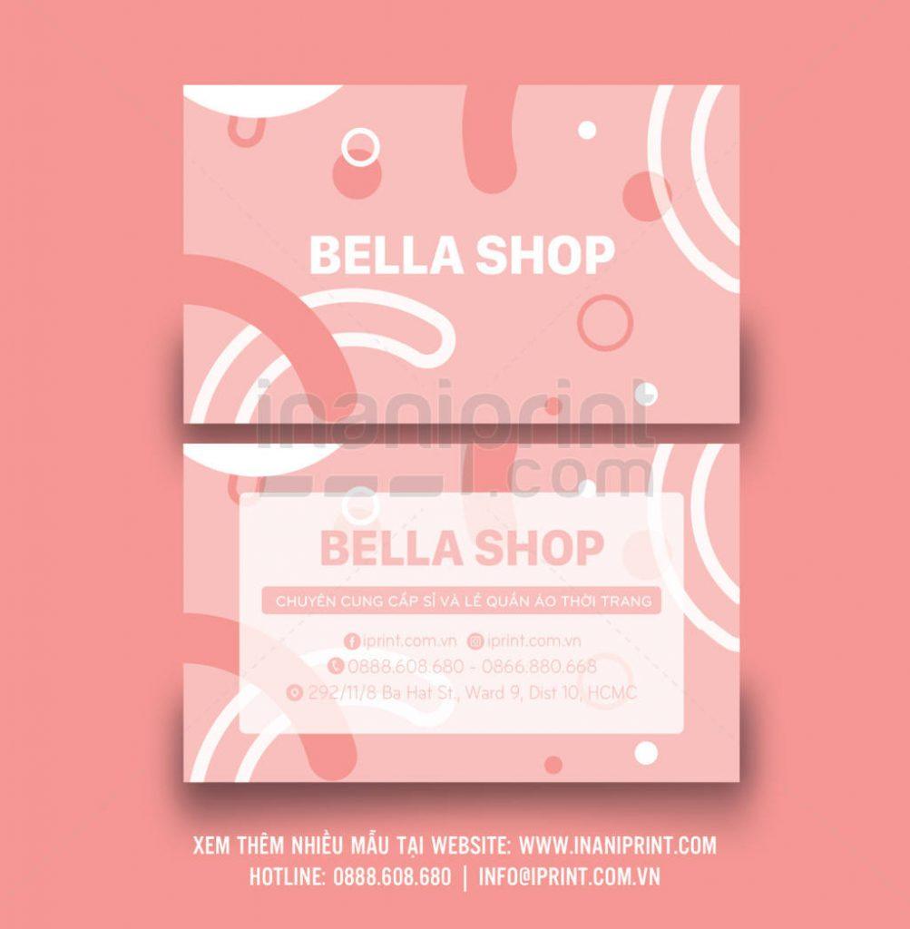 Mẫu name card shop thời trang – S003