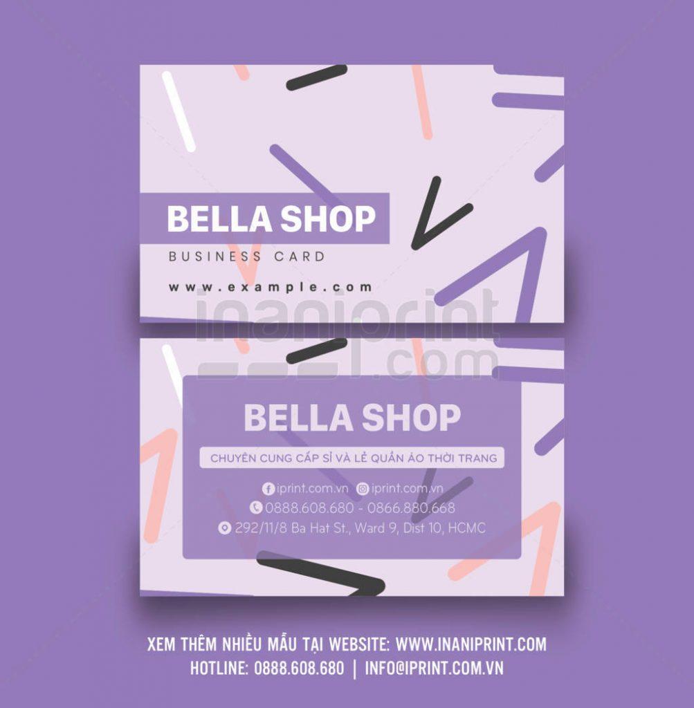 Mẫu name card shop thời trang – S004